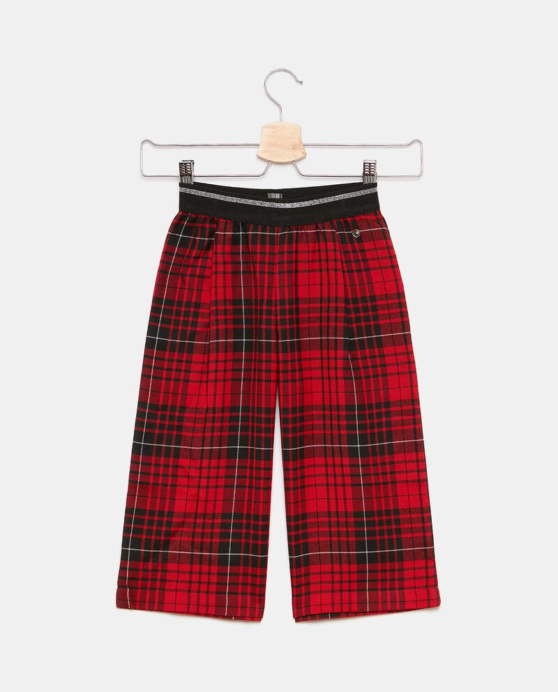 Pantaloni ampi in tartan