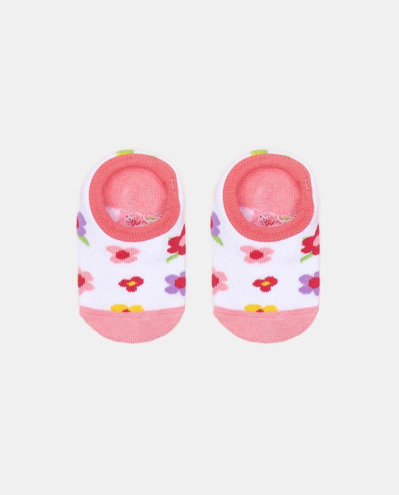 Calzini in fantasia di cotone elasticato neonatadouble bordered 0