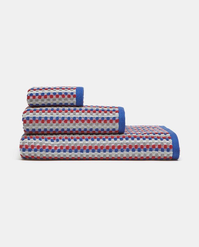 Asciugamano ospite con micro quadretti in puro cotone cover