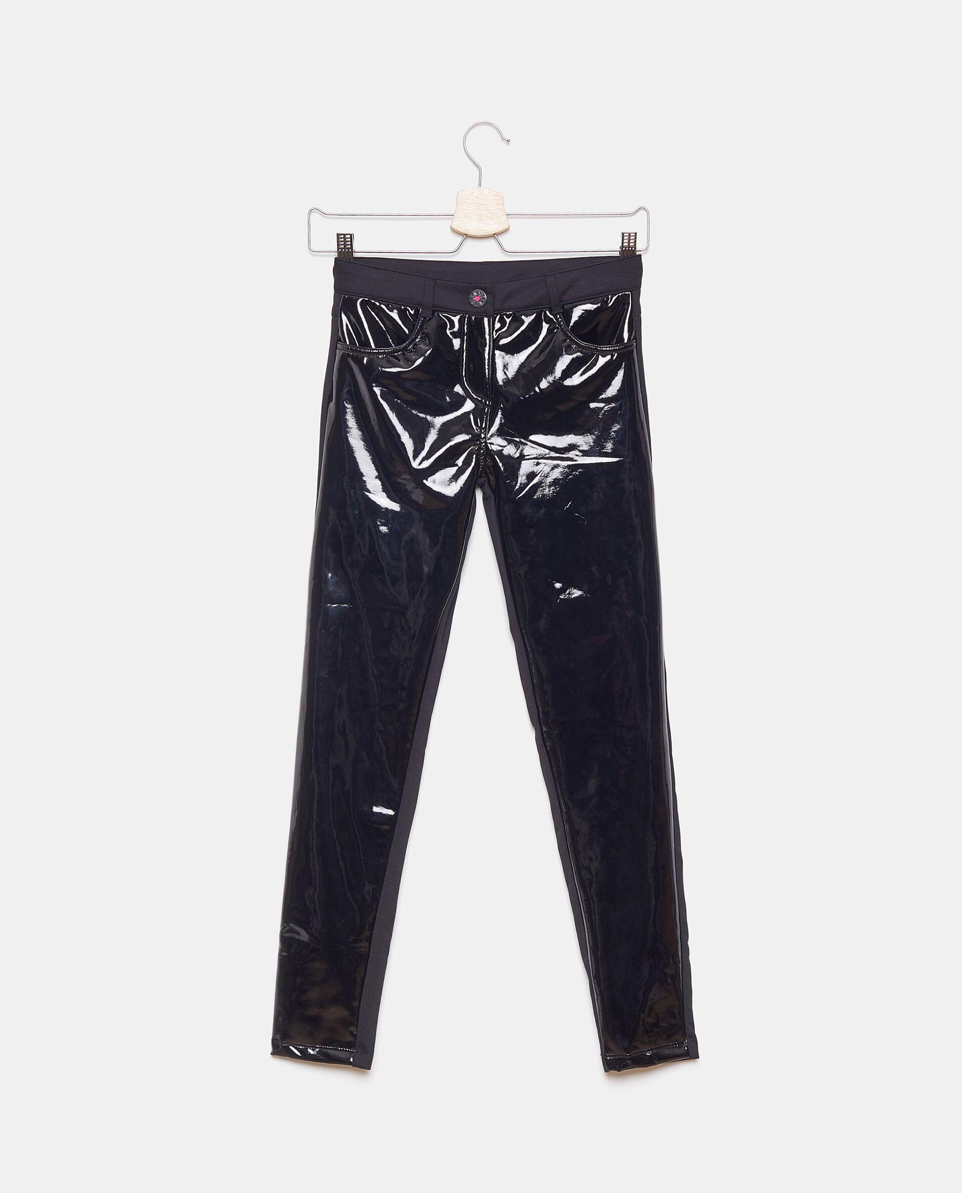 Pantaloni vinile in tinta unita ragazza