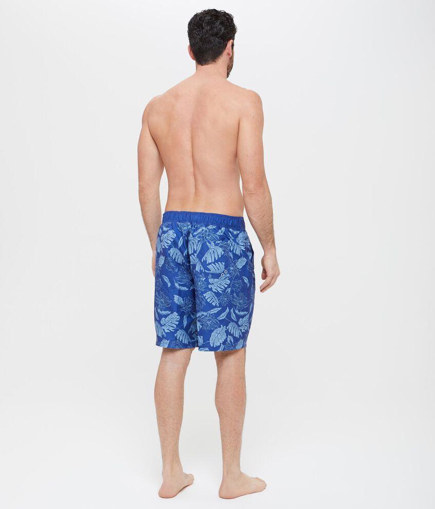 Shorts mare con fantasia piante uomo