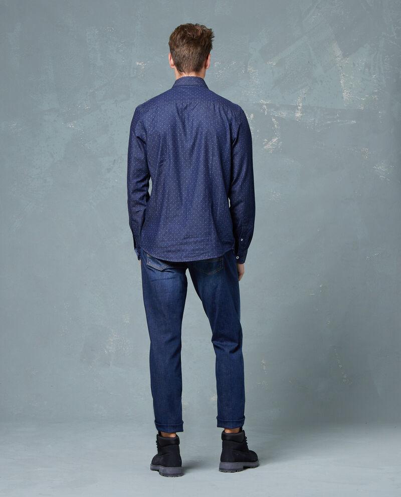 Camicia di jeans fantasia a pois