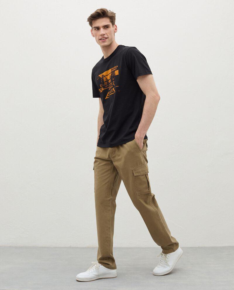 Pantaloni cargo in puro cotone uomo cover