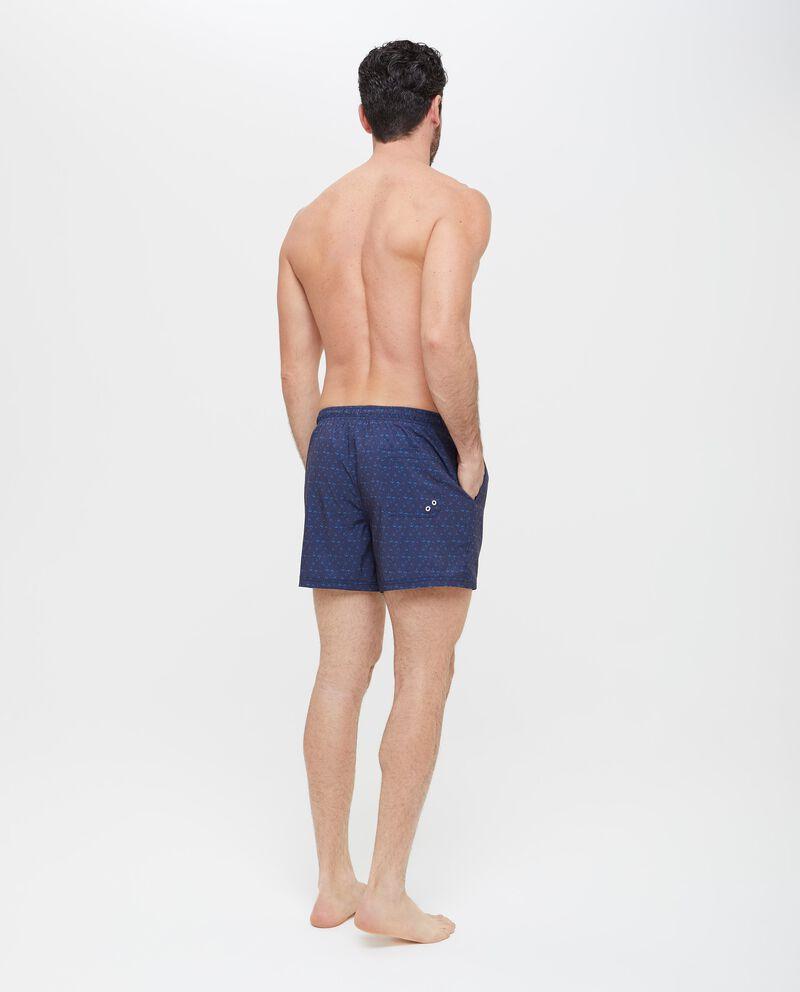 Shorts mare con micro fantasia ancore uomo