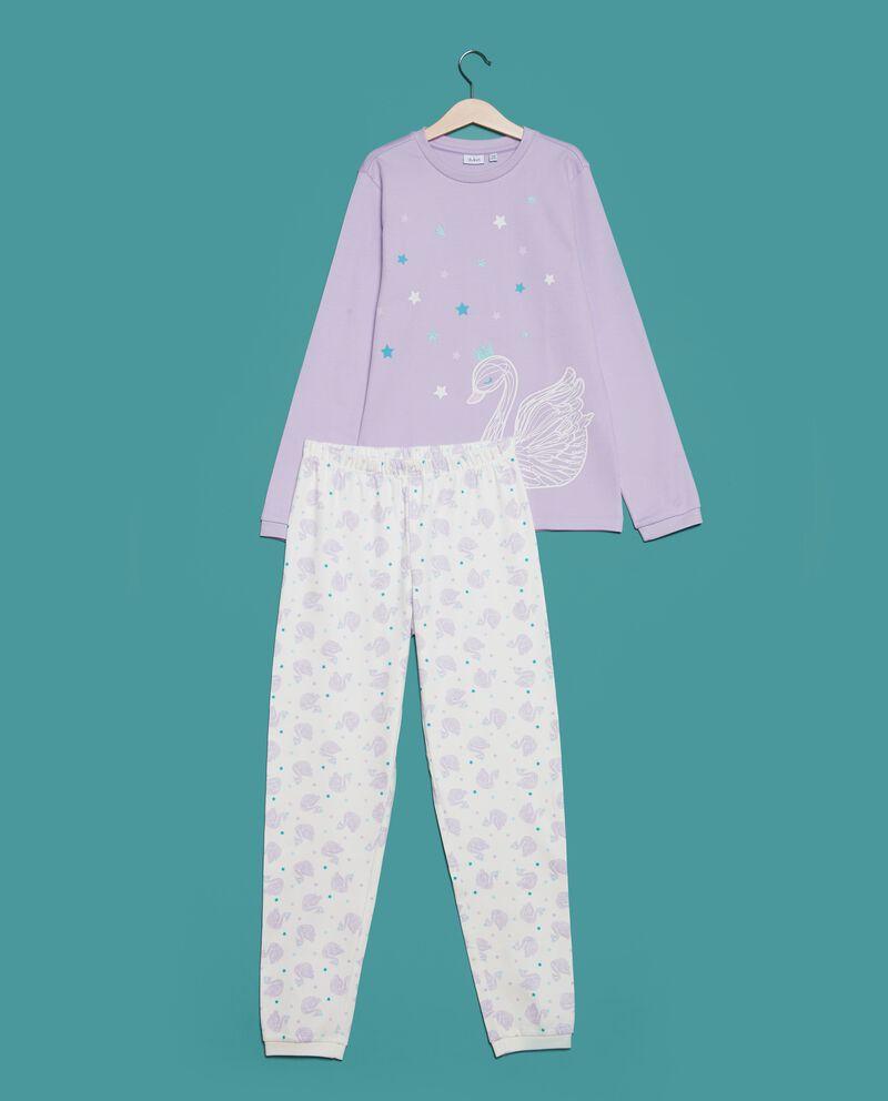 Set pigiama t-shirt stampa stelle e pantaloni ragazza