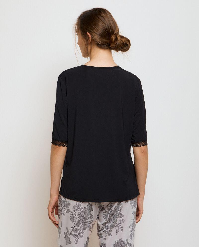 Maglia pigiama in modal stretch donna single tile 1