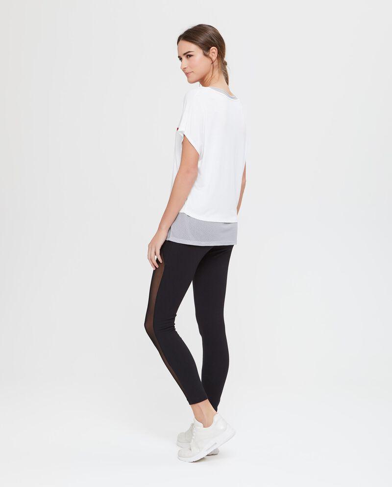 T-shirt e canotta in viscosa bianca Fitness