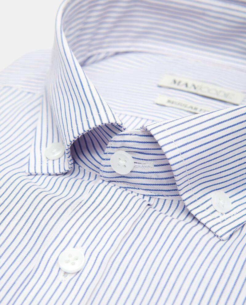 Camicia regular fit a manica corta a righe single tile 1