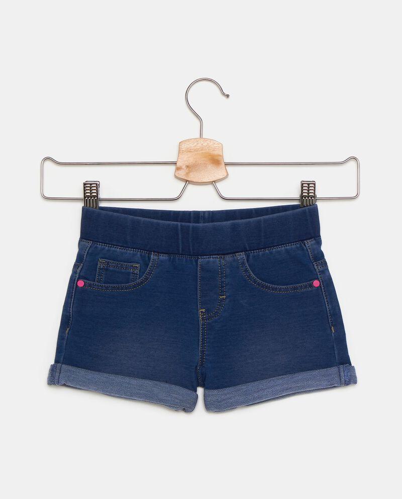 Shorts in felpina denim confortevole bambina