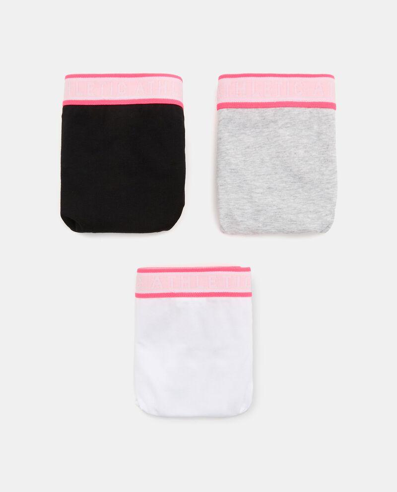 Pack con 3 slip di cotone organico ragazza cover