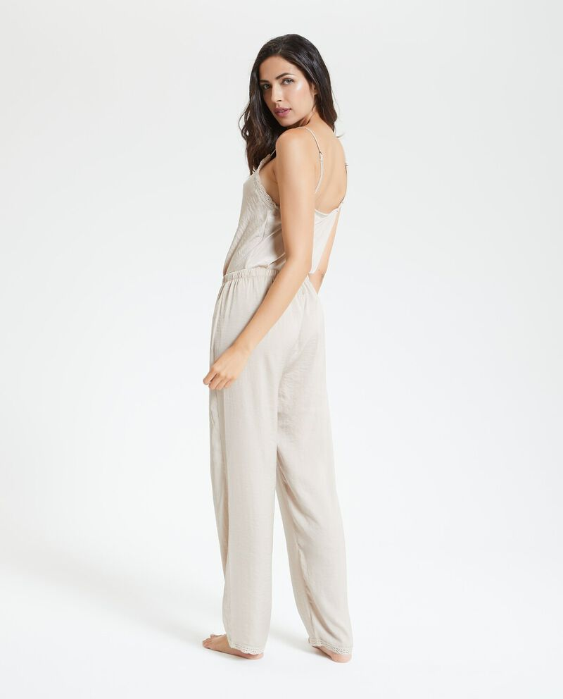 Pantaloni pigiama tinta unita donna