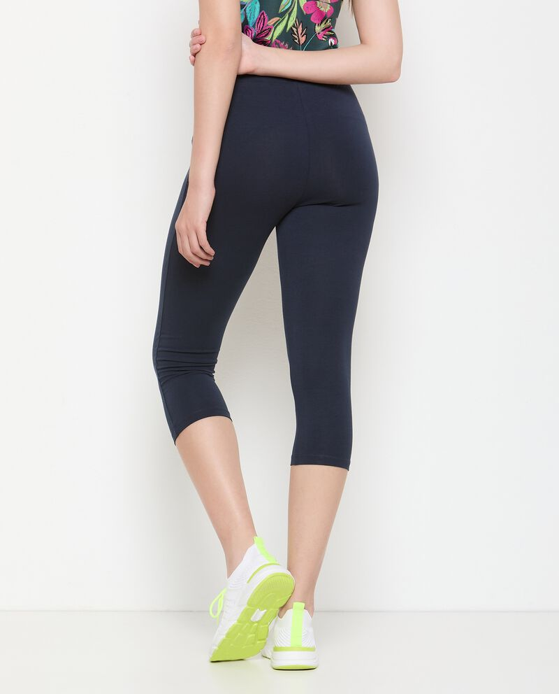 Leggings corsaro in jersey stretch Fitness donna