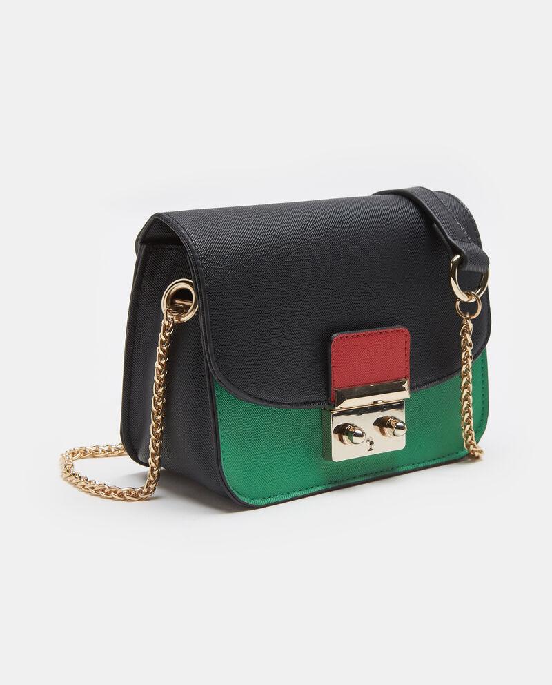 Mini city bag nera con tracolla