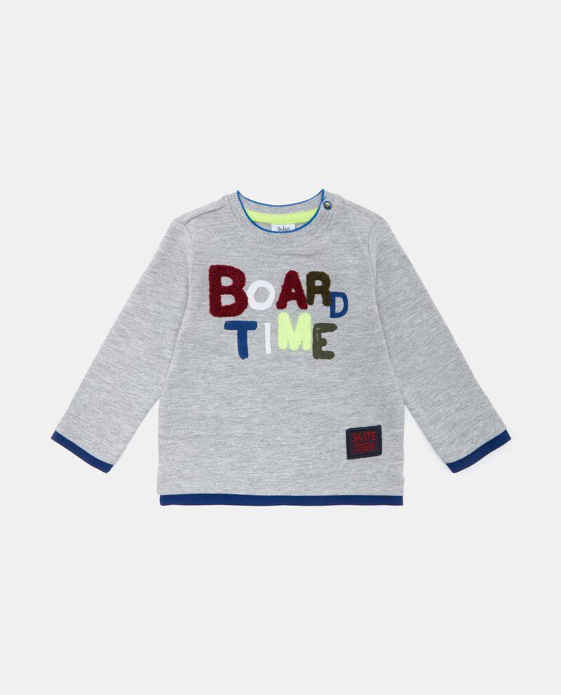 T-shirt con lettering applicato neonato