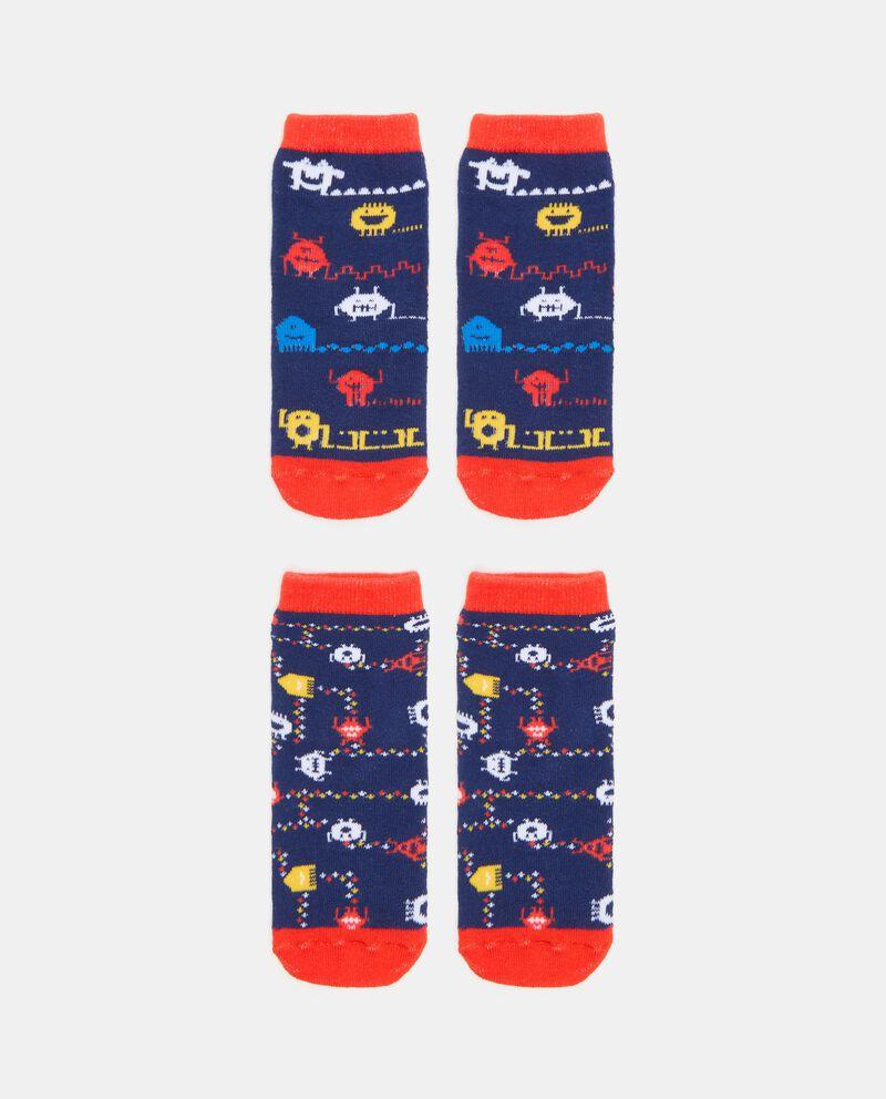 Bipack con 2 paia di calzini antiscivolo in cotone organico bambino cover