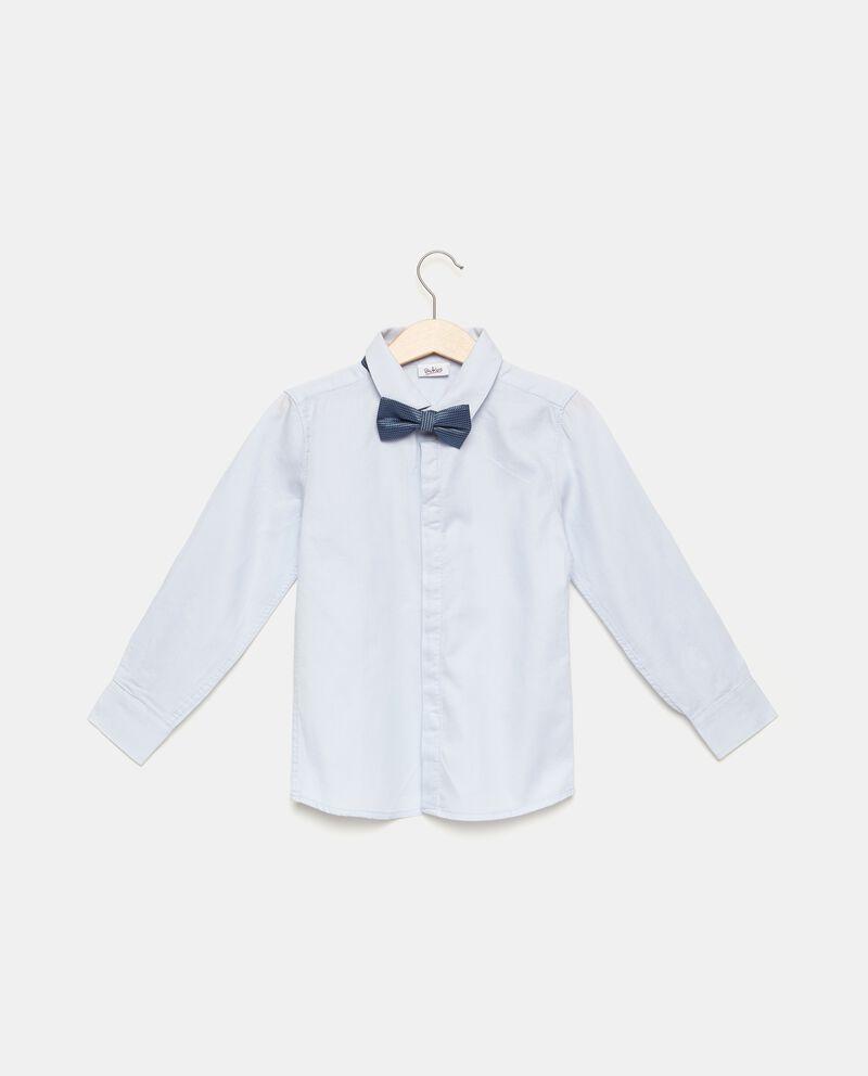 Camicia in puro cotone con motivo a righe bambino
