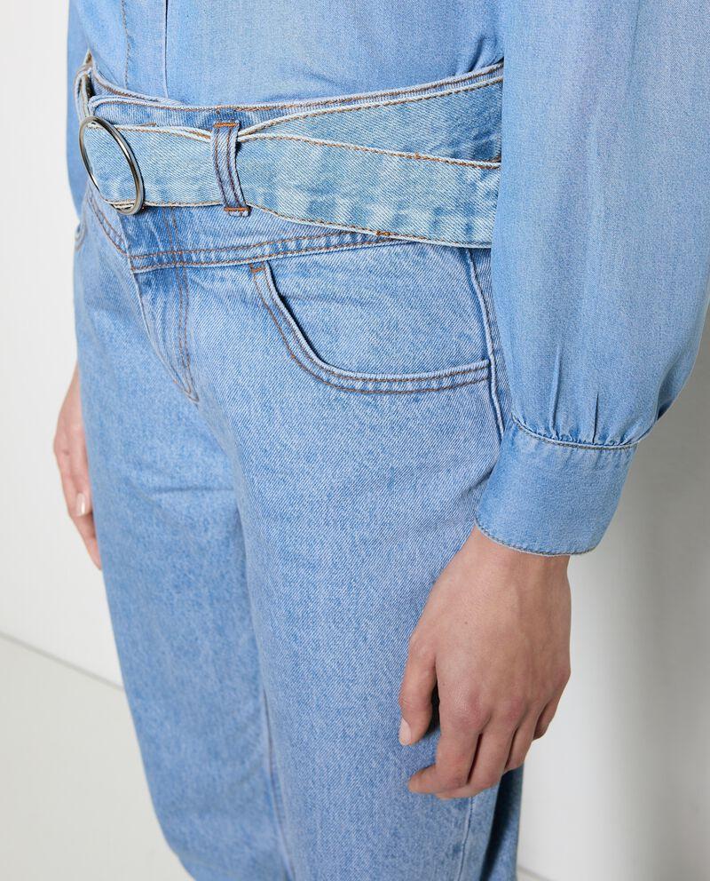 Jeans mom fit in puro cotone donna single tile 2