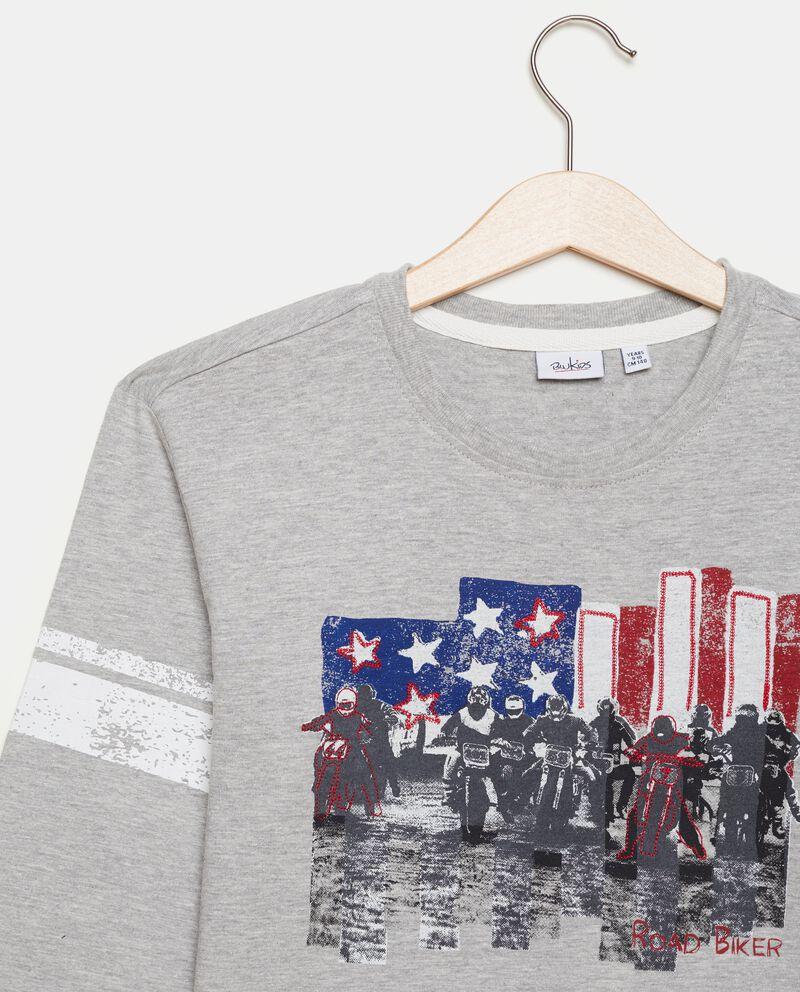 Maglia con stampa bandiera americana ragazzo