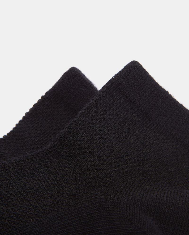 Calzini alla caviglia in cotone organico bambinodouble bordered 1