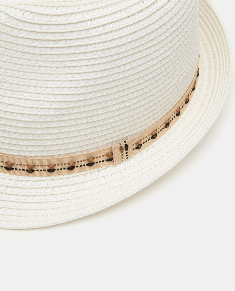 Cappello fedora con nastro uomo single tile 1