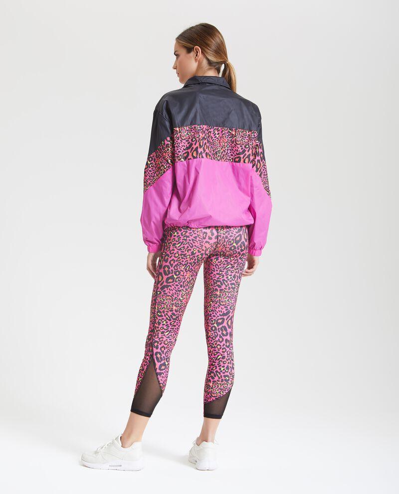 Giacca impermeabile con bande colorate donna