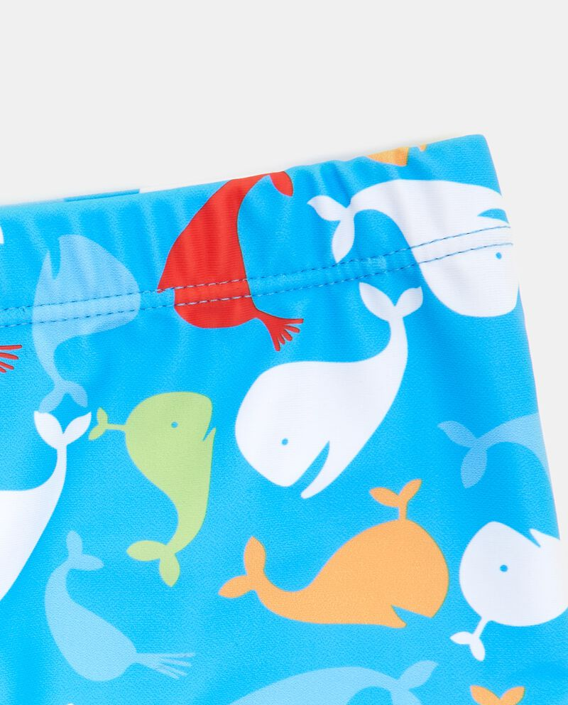 Costume boxer con fantasia balene bambino