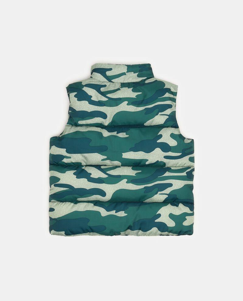 Gilet imbottito collo alto camouflage