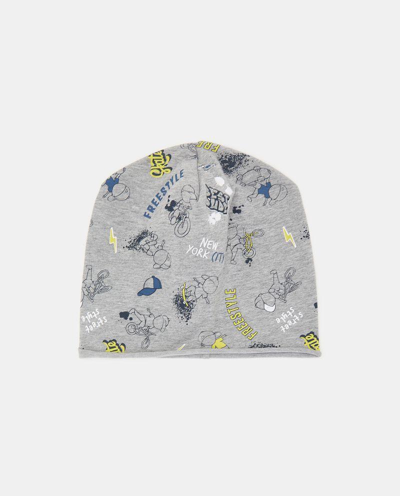 Berretto in felpina elasticizzata con stampa neonato cover