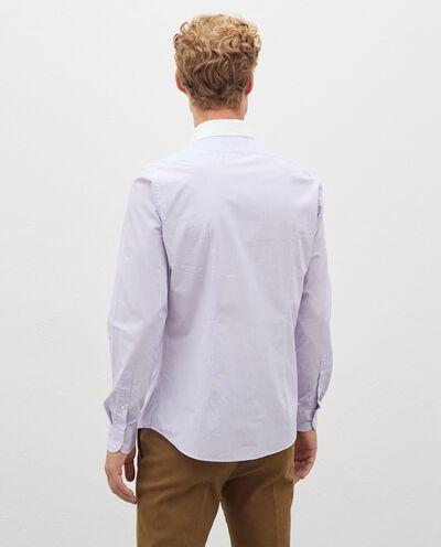 Camicia a righe in puro cotone uomo detail 1