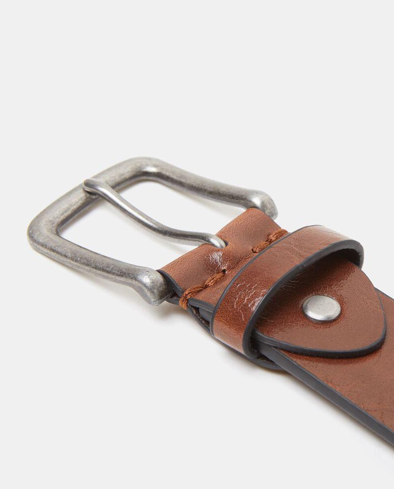 Cintura marrone effetto vintage uomo