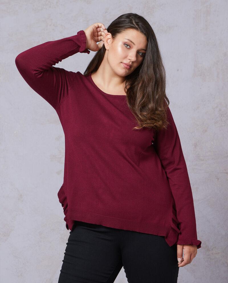 Pullover tricot linea comoda con volant