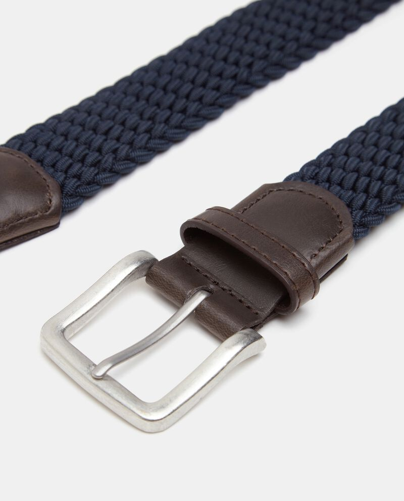 Cintura stretch intrecciata uomo