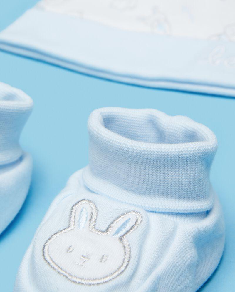 Set puro cotone scarpette e berrettino neonato