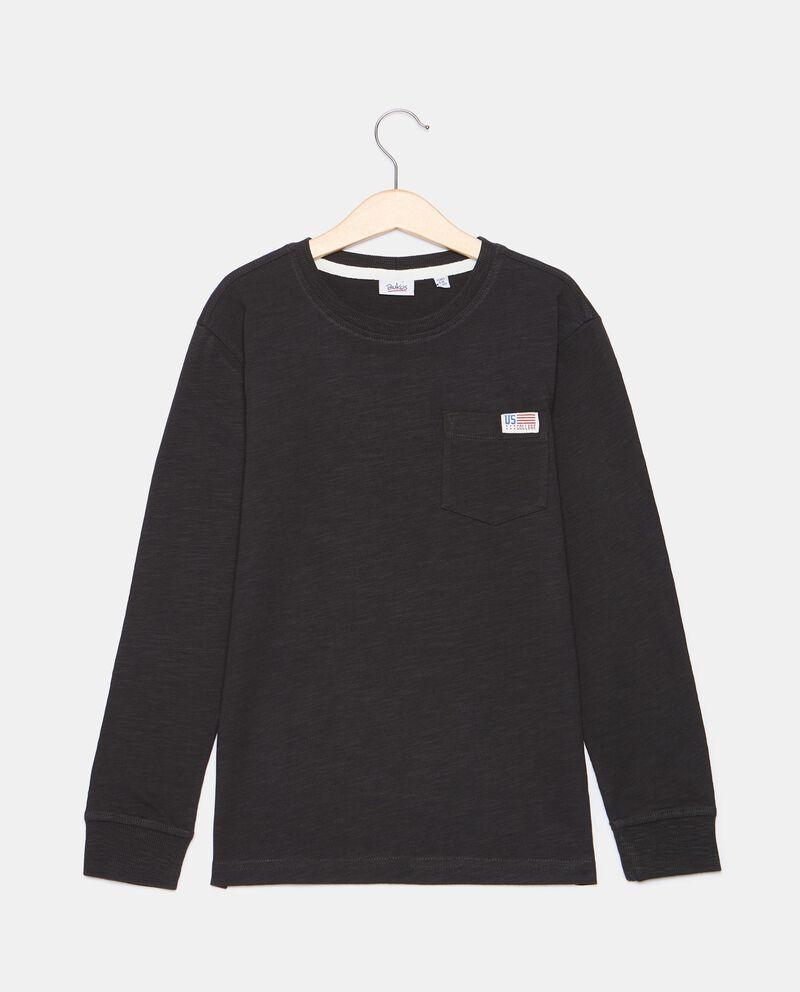 T-shirt con taschino di cotone organico ragazzo cover