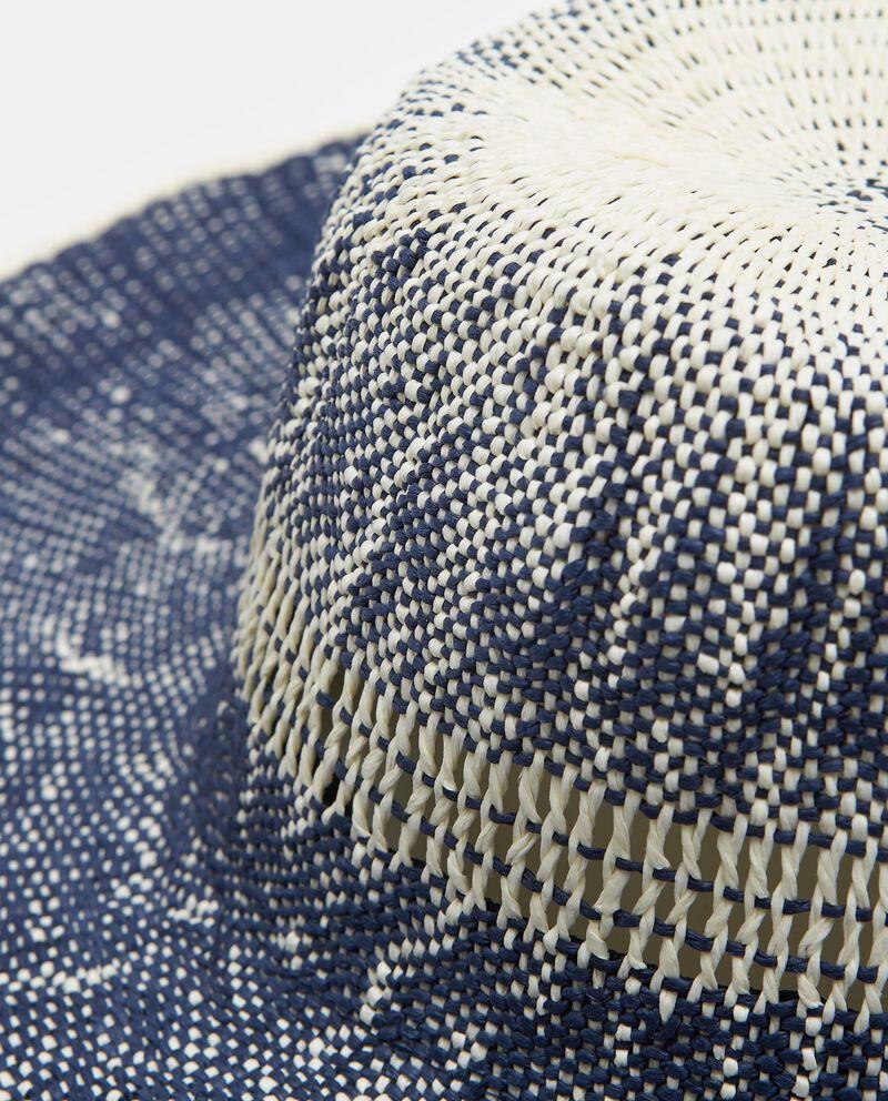 Cappello in paglia di carta effetto sfumato