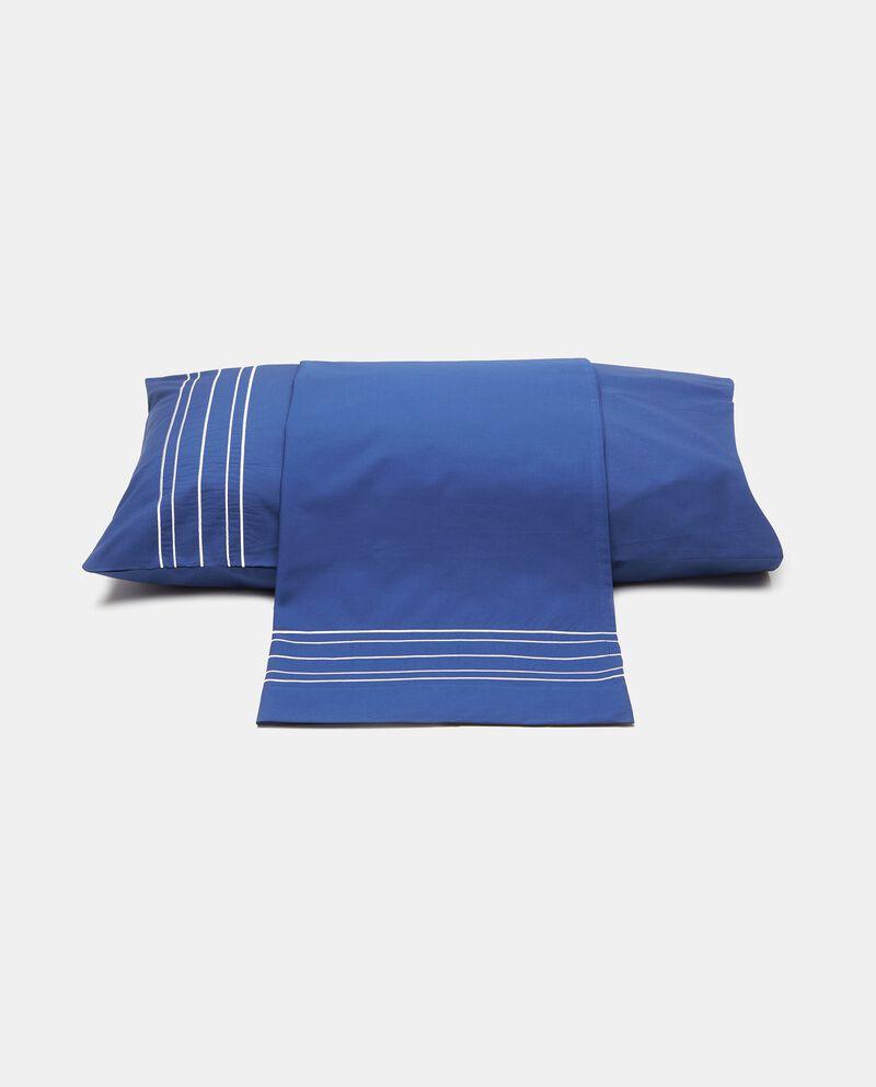 Parure lenzuolo e federe 1 piazza in percalle ricamato cover