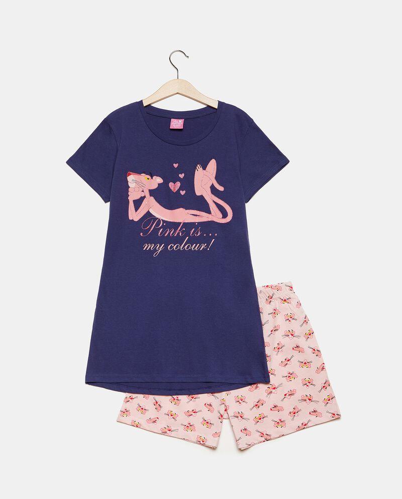 Set pigiama in puro cotone con maglia e shorts bambina