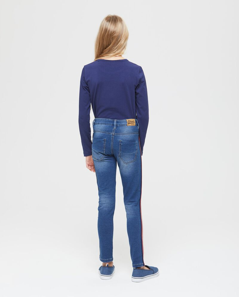 Jeans stretch con bande
