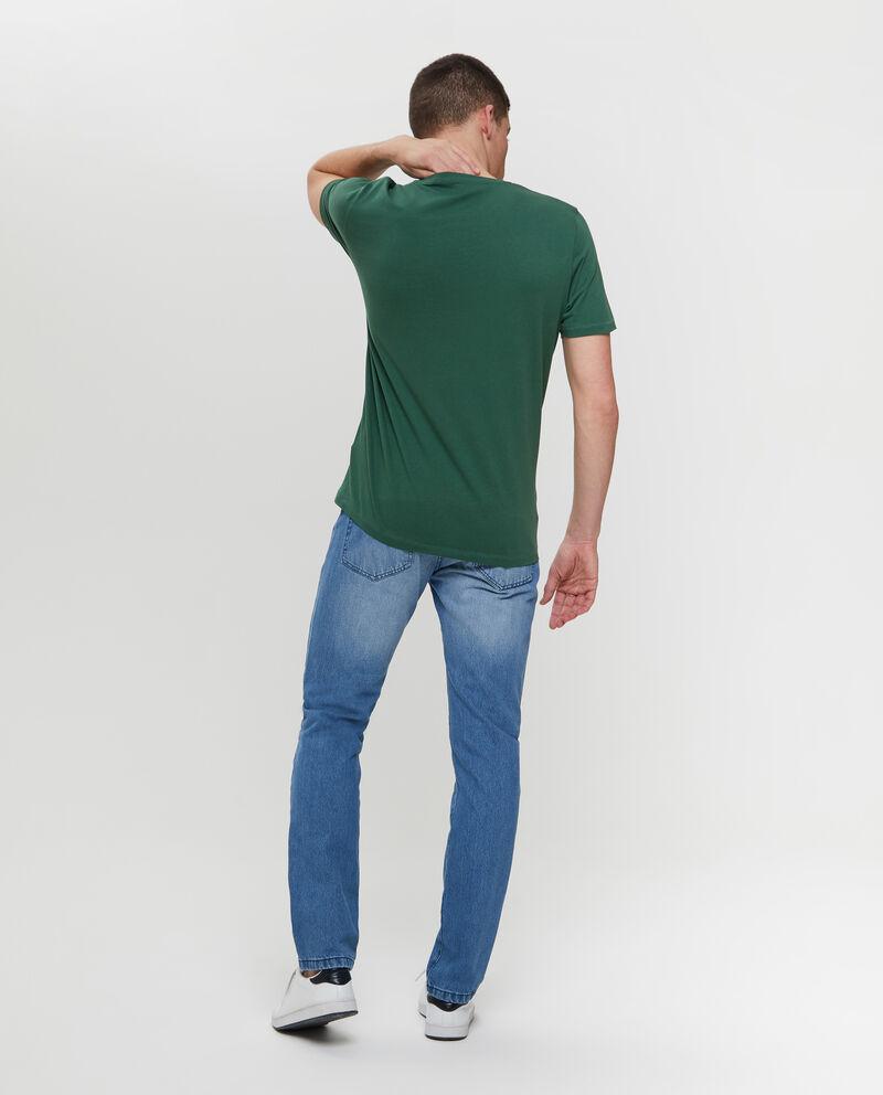 T-shirt puro cotone e stampa lettering