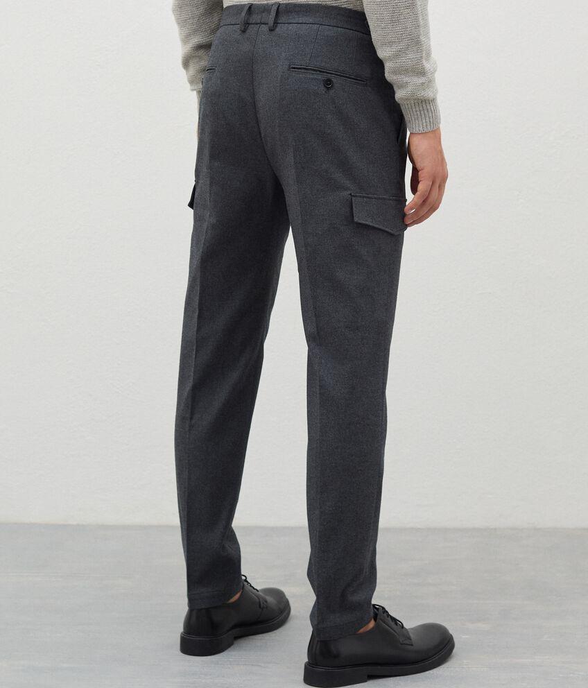 Pantaloni eleganti cargo uomo double 2