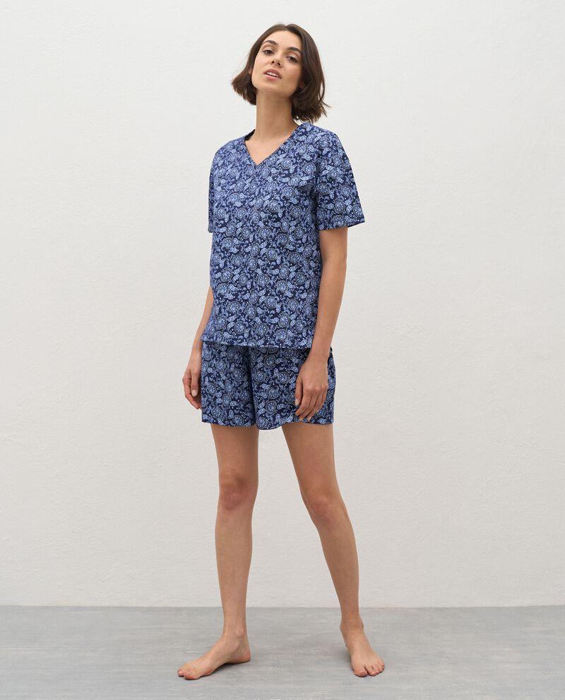 Bermuda pigiama stampati in puro cotone donna cover