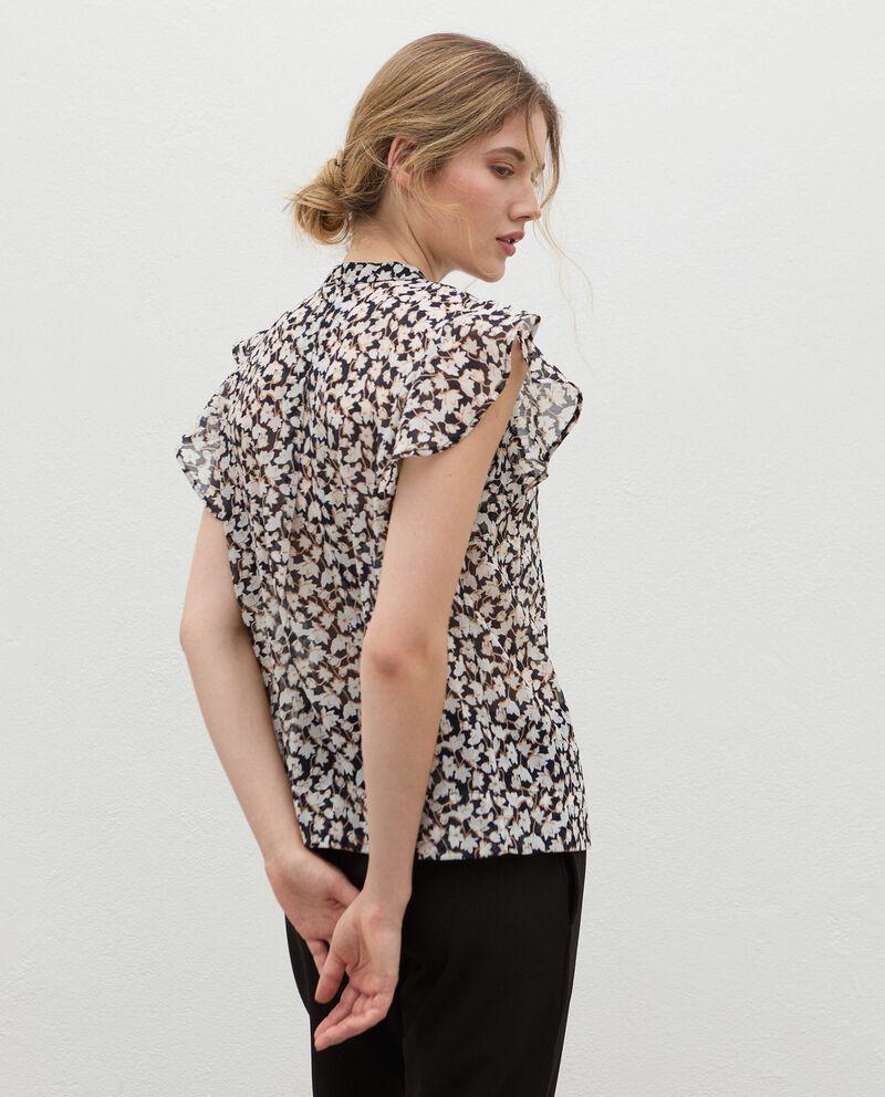 Camicia plissé con maniche volant donna single tile 1