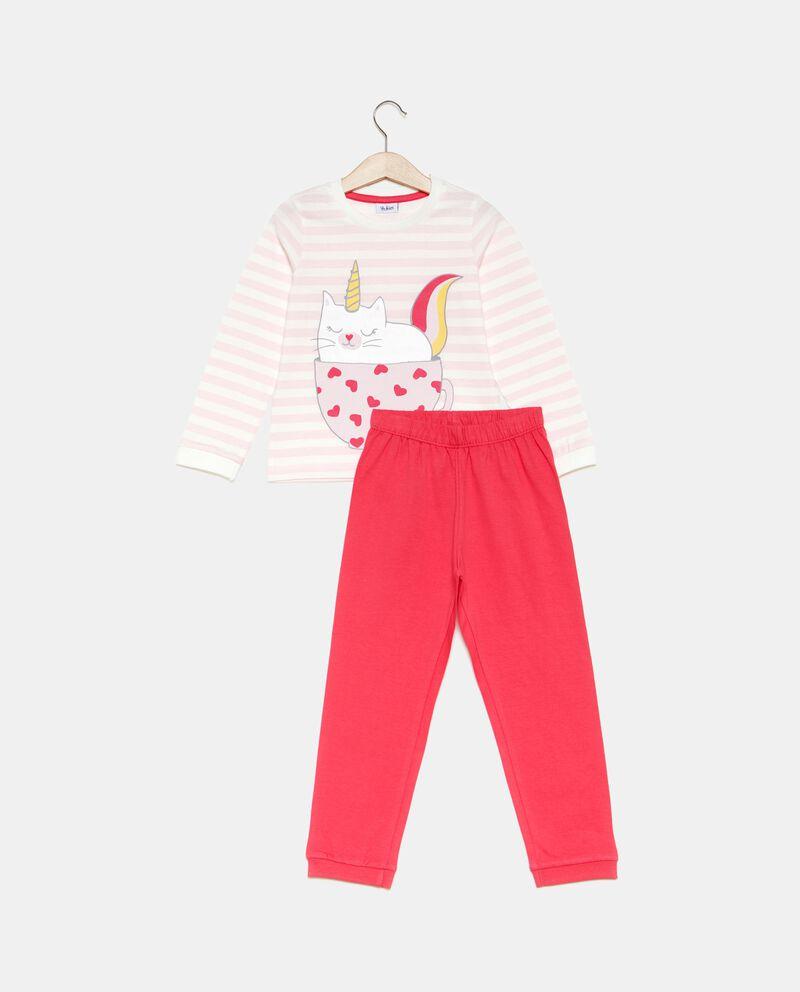 Set pigiama t-shirt a righe e pantaloni bambina