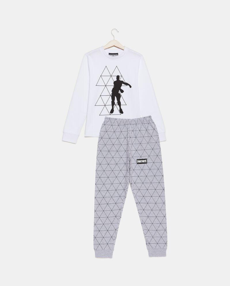 Set pigiama felpa e pantaloni in puro cotone bambino