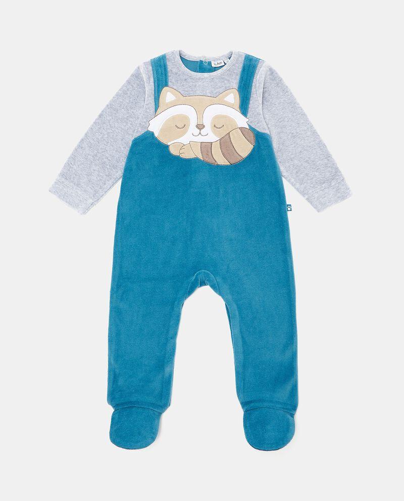 Tutina pigiama con stampa in cotone biologico neonato
