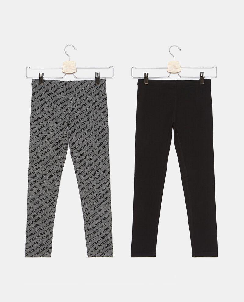 Bipack di 2 leggings cotone biologico stretch ragazza cover
