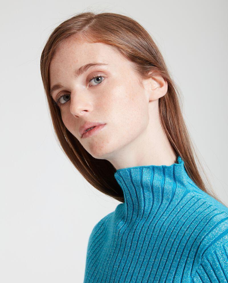 Maglioncino lurex a collo alto donna