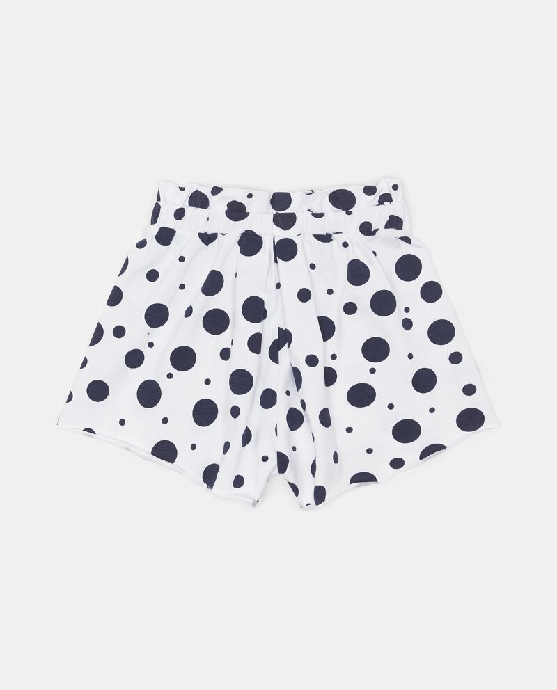 Gonna pantalone fantasia a pois