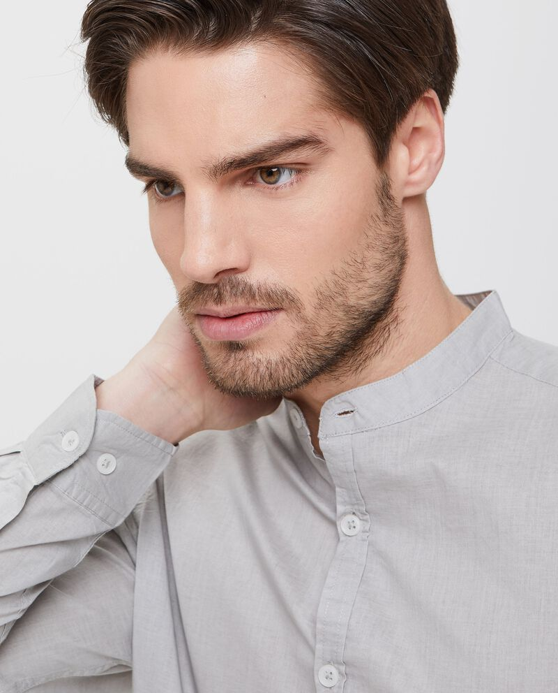 Camicia in puro cotone grigia uomo