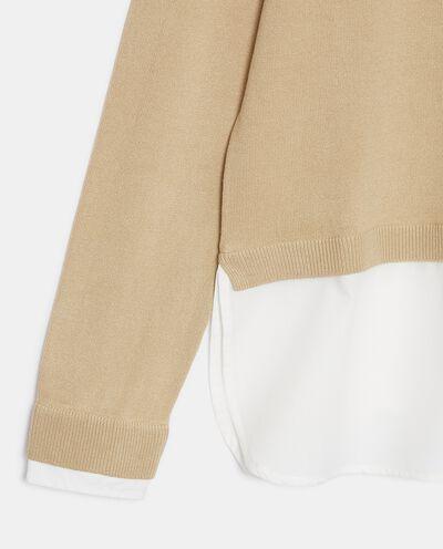 Maglia con inserto camicia donna detail 1